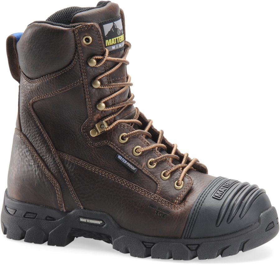 Matterhorn 8 Inch Brown Waterproof : Dark Brown - Mens