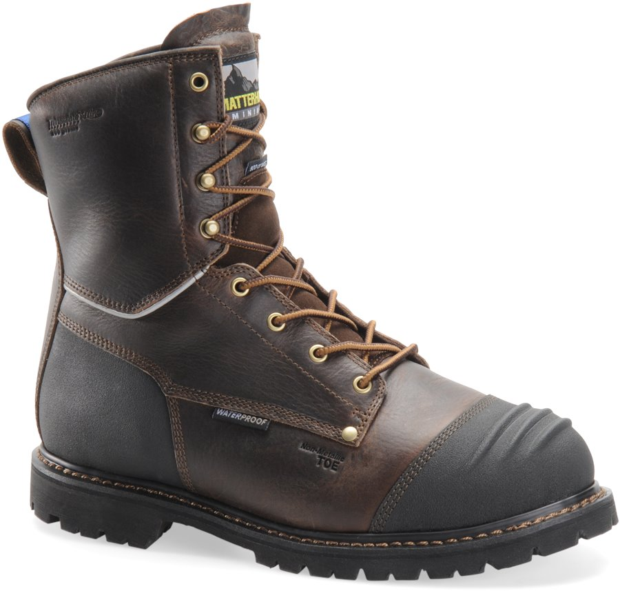 Matterhorn 8 Inch Brown WP ST Insulated : Dark Brown - Mens