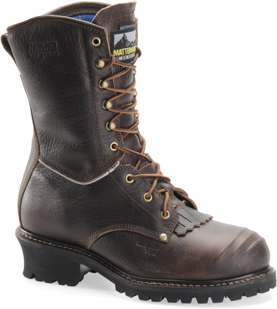 Matterhorn 10 Inch Brown WP Insulated Logger : Dark Brown - Mens