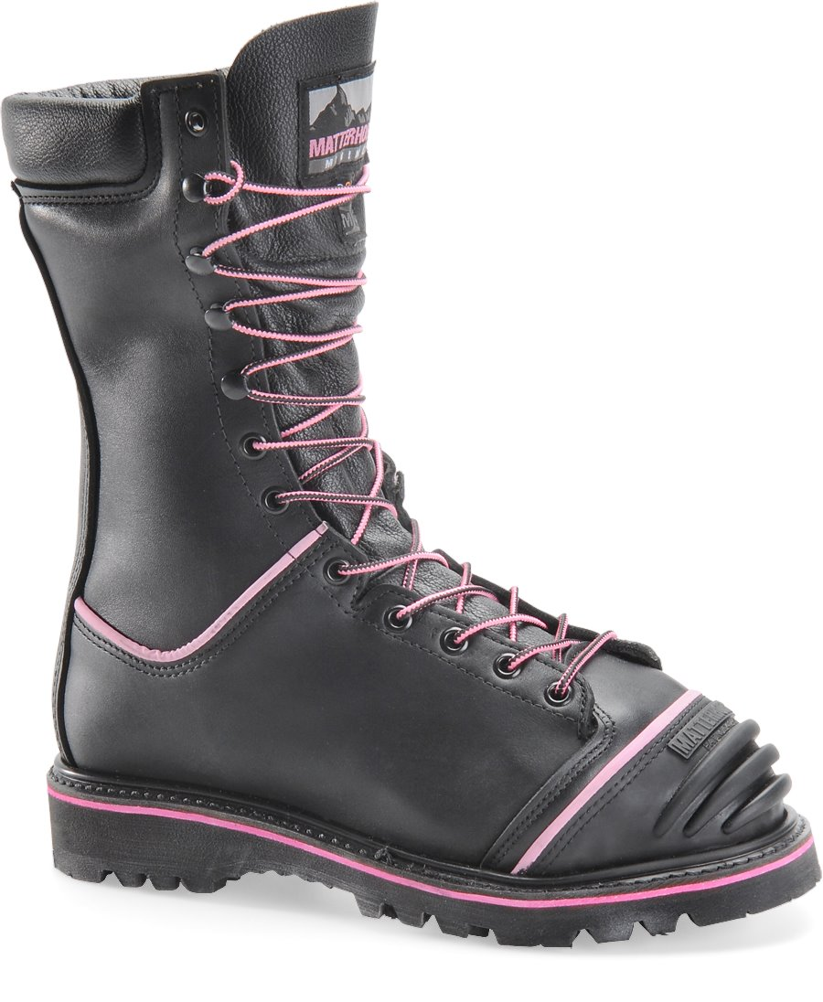 Matterhorn 10 Inch WP Insulated D3O Int Metguard Pink Hi Viz : Black - Womens