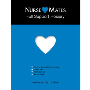 White Nurse Mates Full Support Hosiery