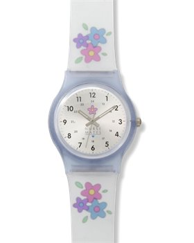 Clear Nurse Mates Frosted Flower Jelly Watch