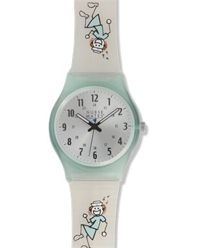 Clear Nurse Mates Nurses Rock Frosted Jelly Watch