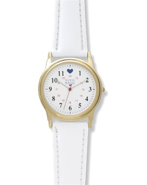 Gold/White Nurse Mates Gold Basic Military Dial