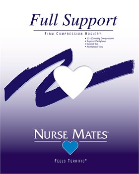 White Nurse Mates Firm Compression