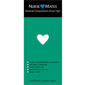 White Nurse Mates Medical Compression Knee Hi