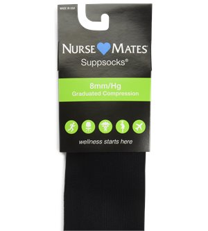Black Nurse Mates Support Socks sizes 9-11