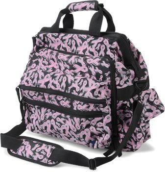 Scattered Pink Ribbons Nurse Mates Ultimate Nursing Bag