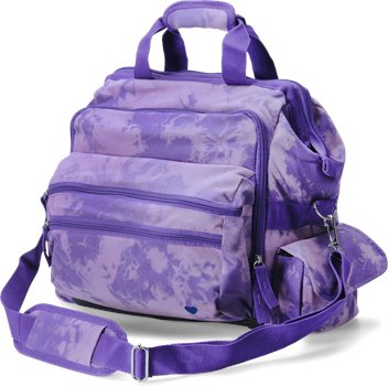 Purple Tie Dye Nurse Mates Ultimate Nursing Bag