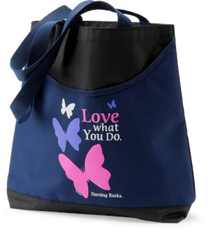 Navy Nurse Mates Scoop Tote