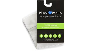 White Nurse Mates Medical Compression Microfiber