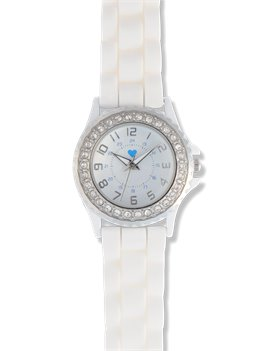 White Nurse Mates Rhinestone Watch