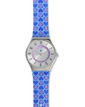 Purple/Blue Nurse Mates Hearts Jelly Watch