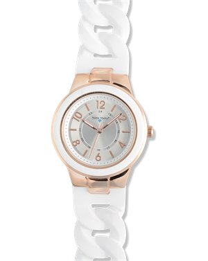 White Rose Nurse Mates Silicone Link Watch