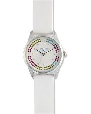 White Nurse Mates Stacked Stones Watch
