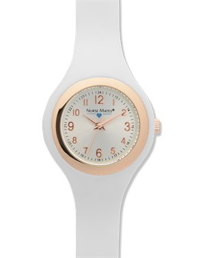 White Nurse Mates Uni-body Slim Watch