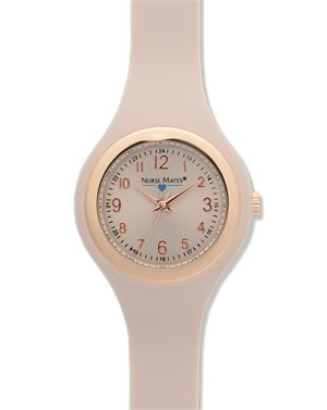Blush Nurse Mates Uni-body Slim Watch
