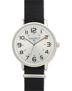 Black Nurse Mates Nylon Sport Watch