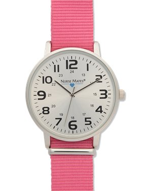 Pink Nurse Mates Nylon Sport Watch