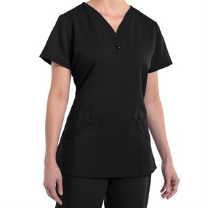 Black Nurse Mates PIPER PRINT TOP