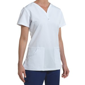 White Nurse Mates PIPER PRINT TOP