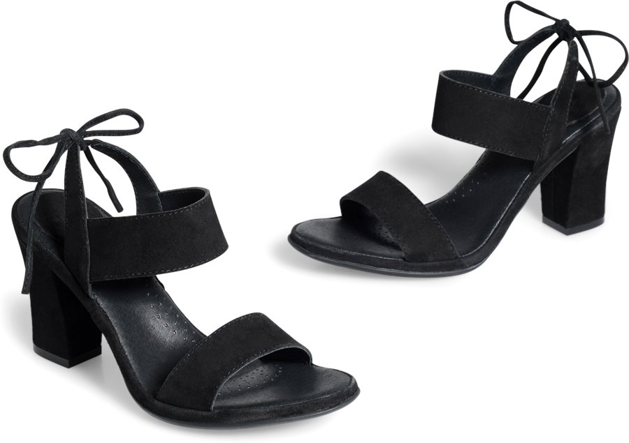 ONO Ebba : Black Suede - Womens