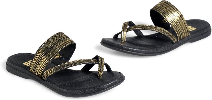 ONO Kia : Black/Gold Metallic Suede - Womens