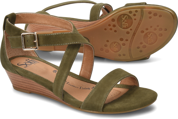 Sofft Innis : Olive Suede - Womens