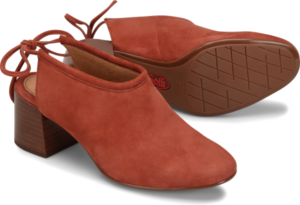 Sofft Lenora : Terracotta Suede - Womens