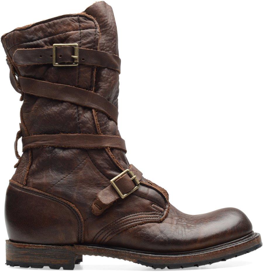 vintage tanker boot in brown vintage