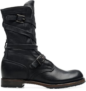 Black Vintage Jennifer  Tanker Boot