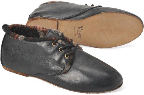 Black Harness Plaid Wool Lining Vintage Hana