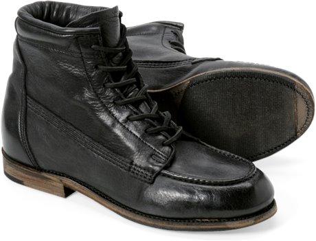 Black Vintage Vincent Moc Toe