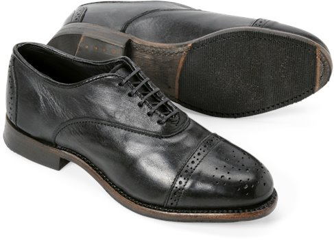 Black Vintage Ellen Brogue