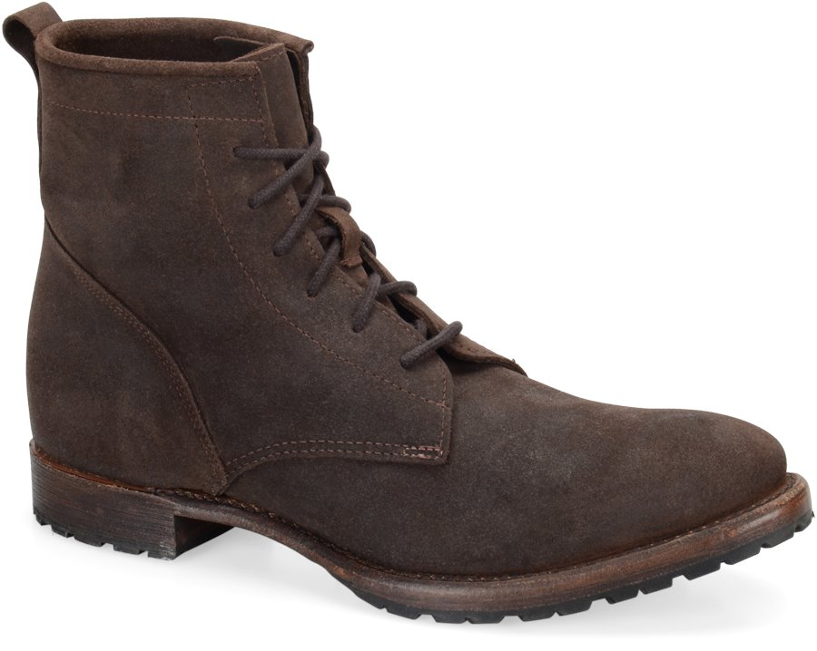 Vintage Rutherford II : Chocolate Oiled Suede - Mens