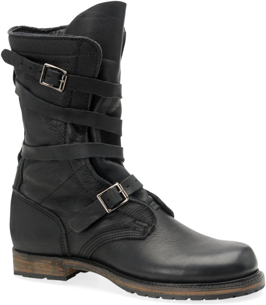 Vintage Jennifer  Tanker Boot : Black - Womens