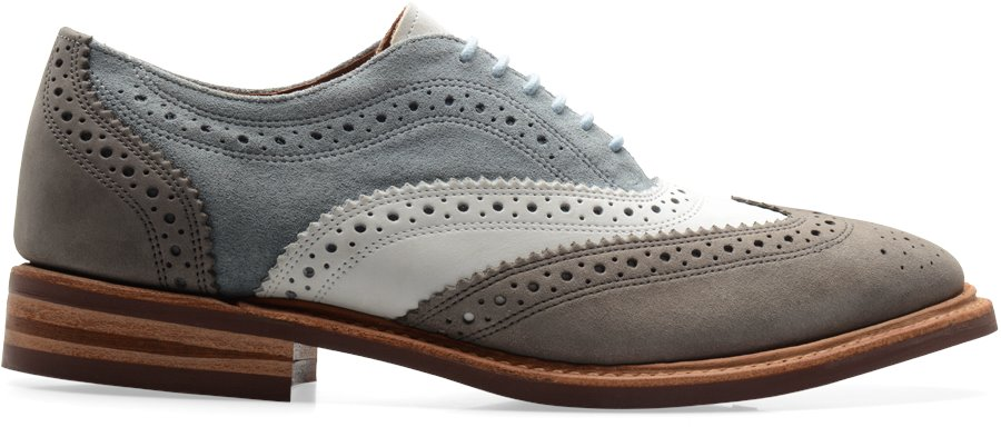 Walk-Over Haverford : Blue White Suede - Mens