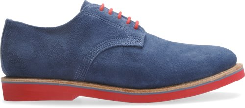 Denim Suede/Denim Trim Walk-Over Derby Midi's