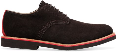 Chocolate Suede Red Mid Walk-Over Derby Midi's