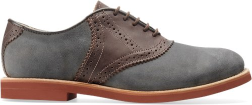 Grey Suede Walk-Over Saddle Oxford