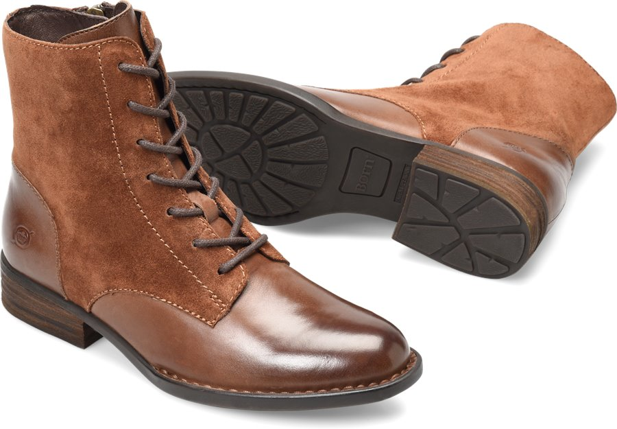 Born Clements : Brown/Rust Combo - Womens