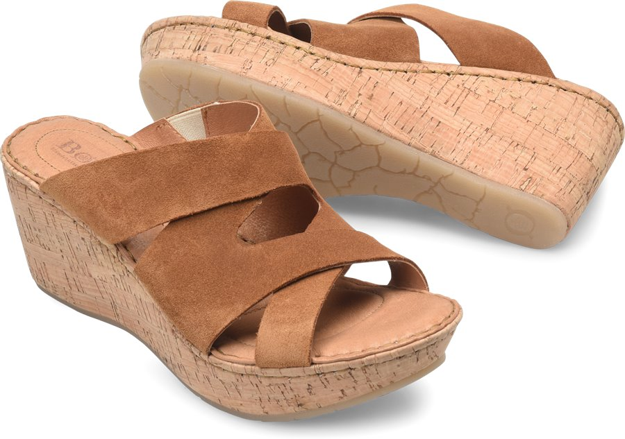 Born Padron : Bark Suede - Womens