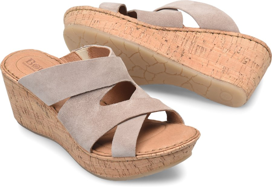 Born Padron : Stone Suede - Womens
