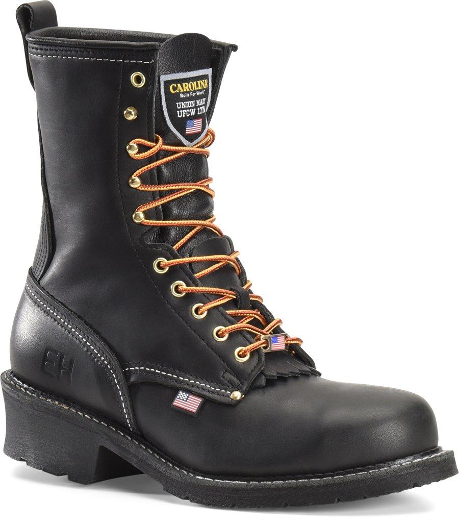 Carolina 9 Inch Domestic Steel Toe Logger : Black Oiltan - Mens
