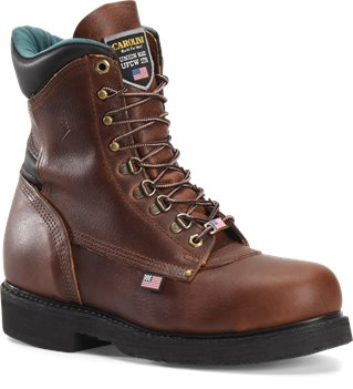 Amber Gold Carolina 8 Inch Domestic Work Boot