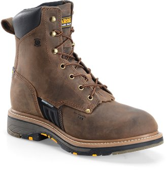 "Dark Brown Carolina 8"" Workflex Composite Toe Work Boot"