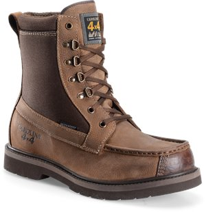 Dark Brown Carolina 8 Inch WP 4x4 Featherweight Moc-Toe