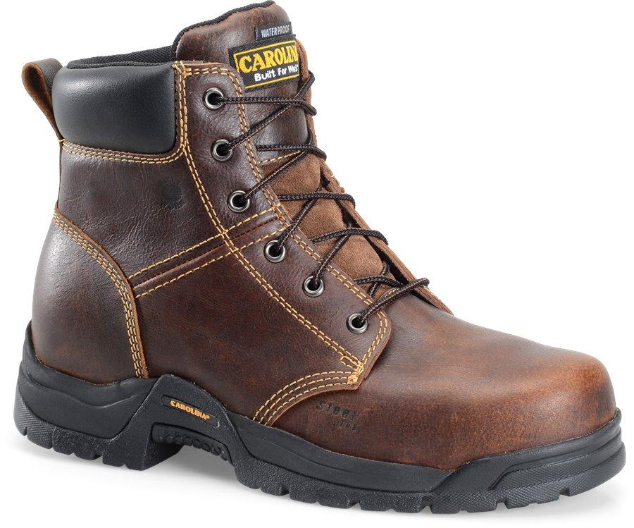 Carolina 6 In Waterproof Broad Steel Toe : Dark Brown - Mens