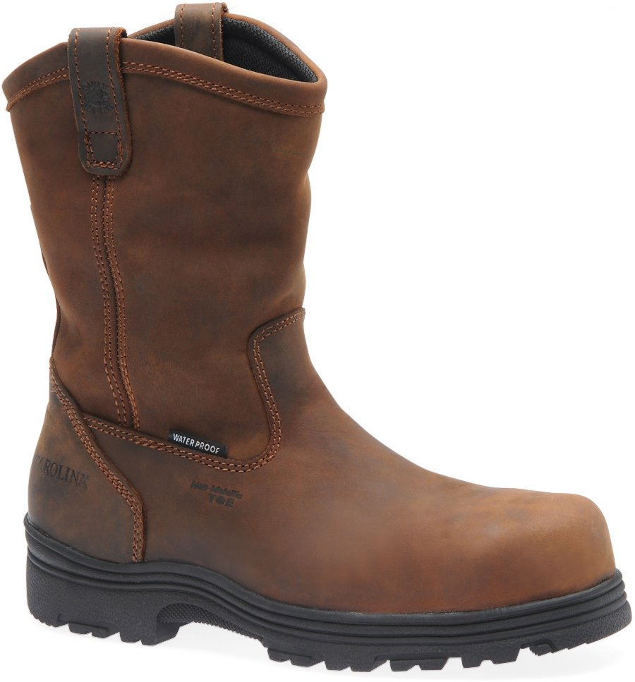 Carolina Waterproof Comp Toe Wellington : Dark Brown - Mens