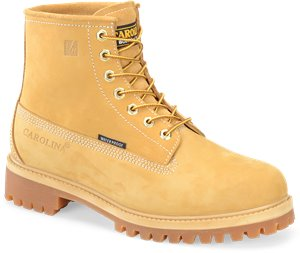 Light Beige Carolina 6 Inch Waterproof Wheat Work Boot